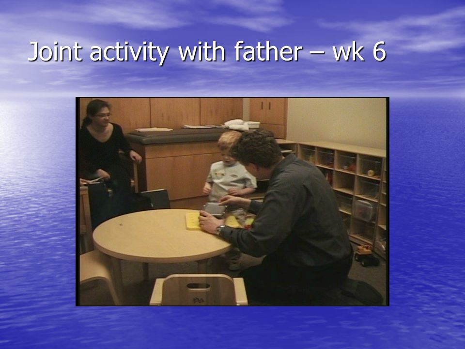 Joint activity with father – wk 6