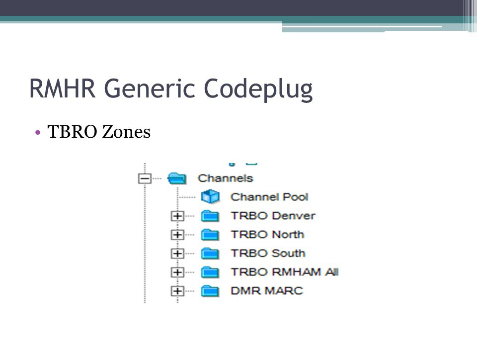 RMHR Generic Codeplug TBRO Zones
