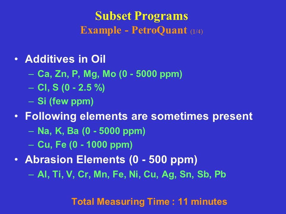 Subset Programs Example - PetroQuant (1/4)