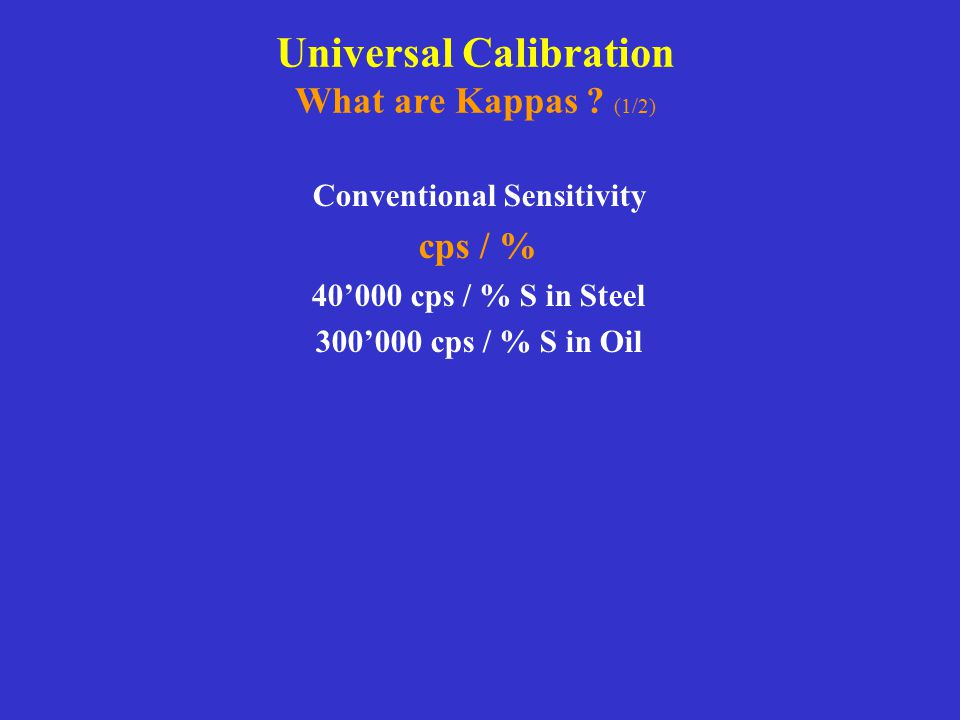 Universal Calibration What are Kappas (1/2)