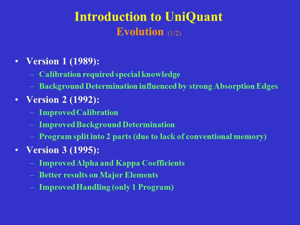 Introduction to UniQuant Evolution (1/2)