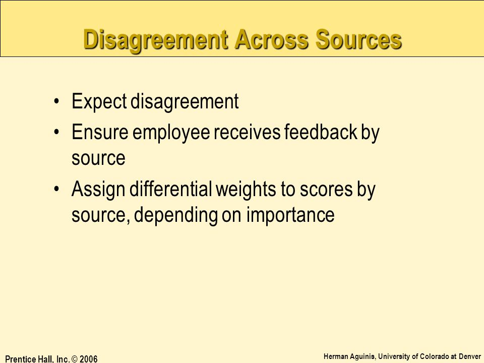 Disagreement Across Sources