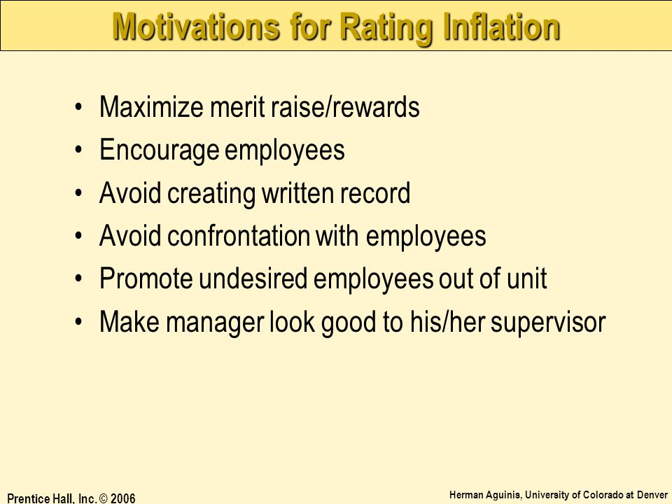Motivations for Rating Inflation