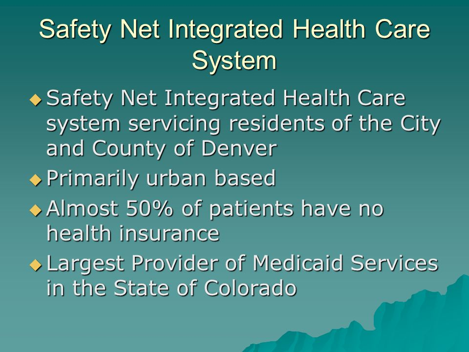 Safety Net Integrated Health Care System