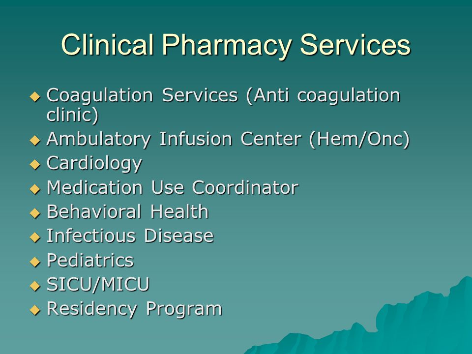 Clinical Pharmacy Services