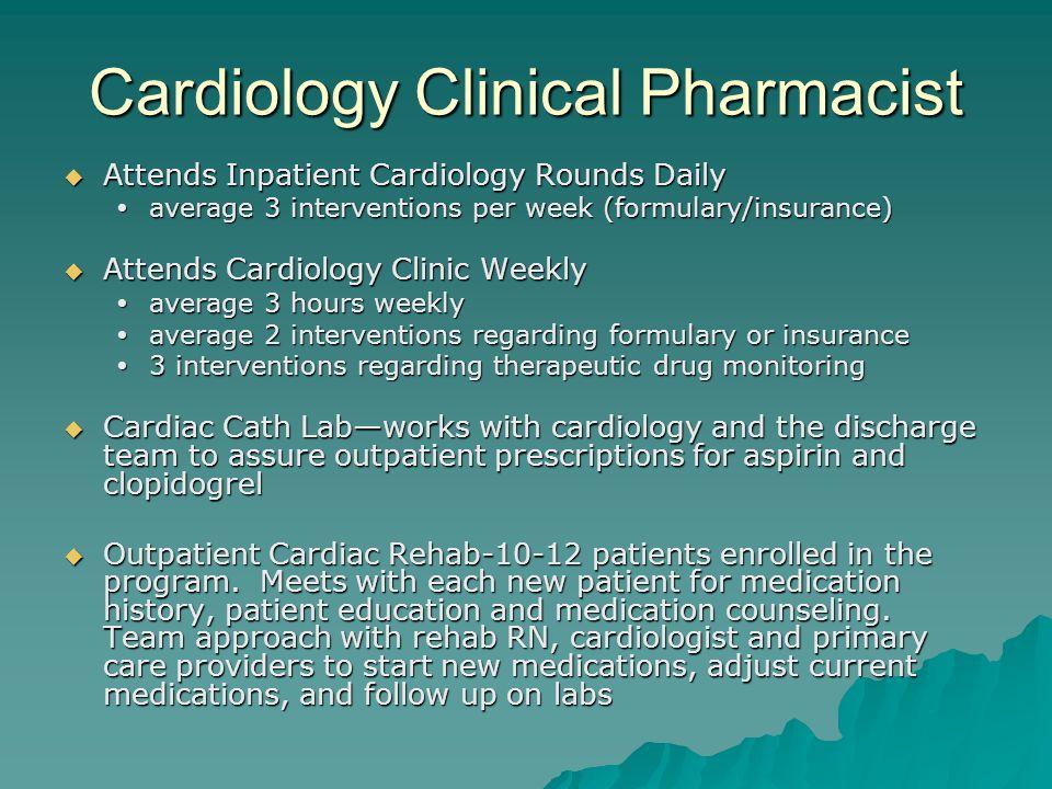 Cardiology Clinical Pharmacist