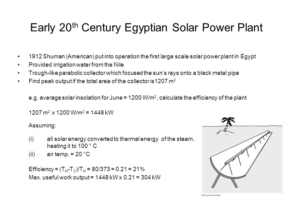 Early 20th Century Egyptian Solar Power Plant