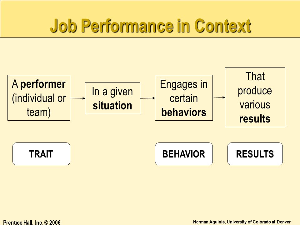 Job Performance in Context