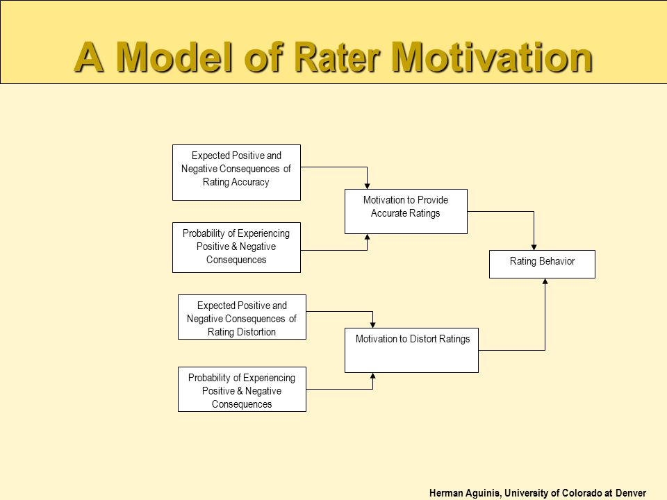 A Model of Rater Motivation
