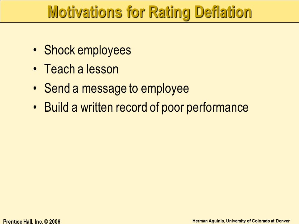 Motivations for Rating Deflation