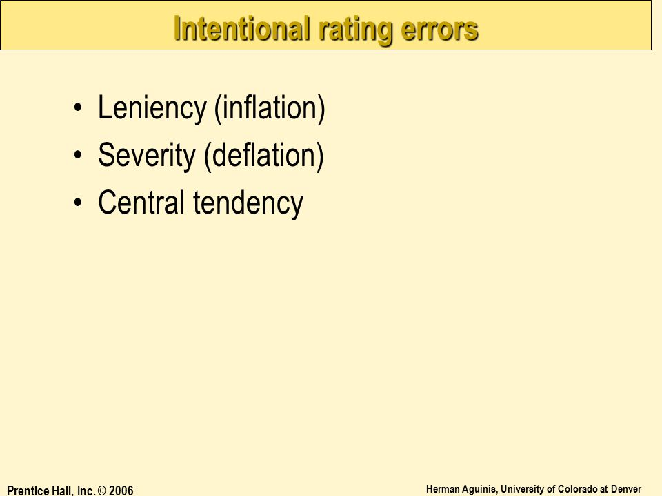 Intentional rating errors