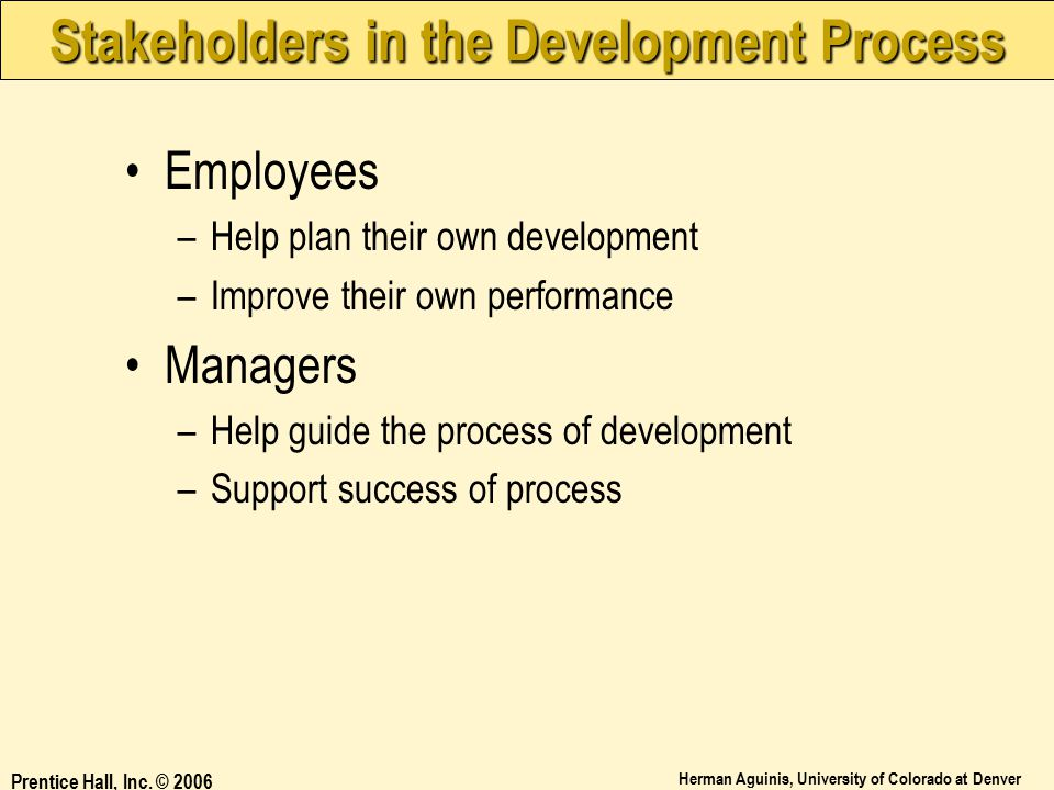 Stakeholders in the Development Process