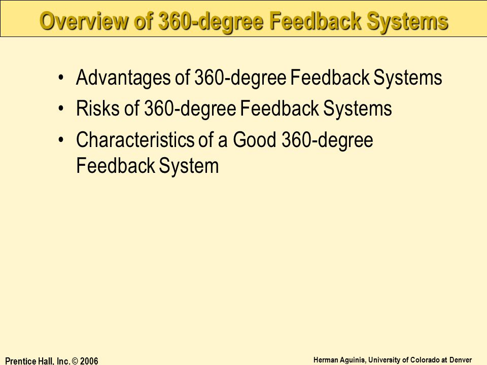 Overview of 360-degree Feedback Systems