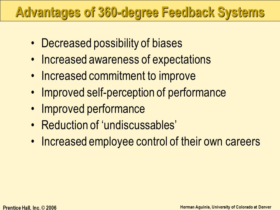 Advantages of 360-degree Feedback Systems