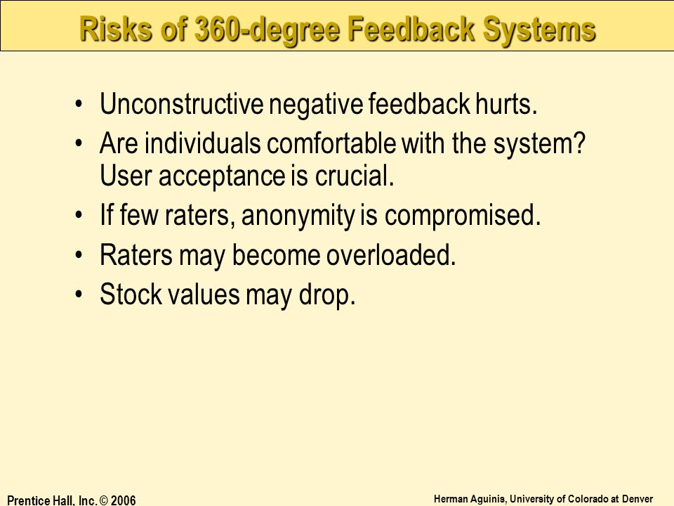 Risks of 360-degree Feedback Systems