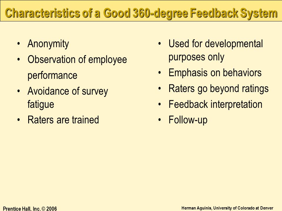 Characteristics of a Good 360-degree Feedback System