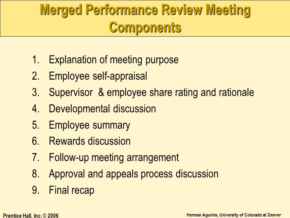 Merged Performance Review Meeting Components