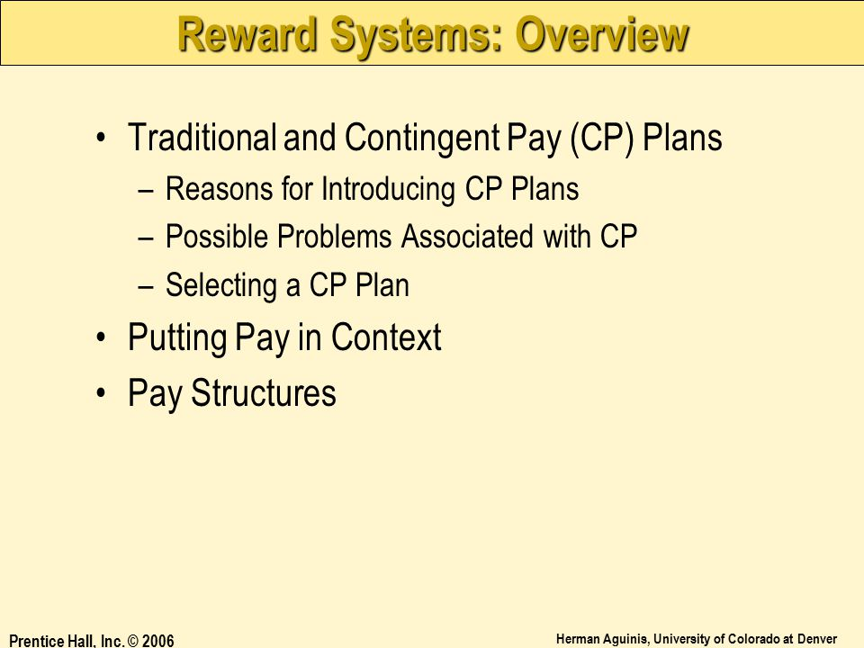 Reward Systems: Overview