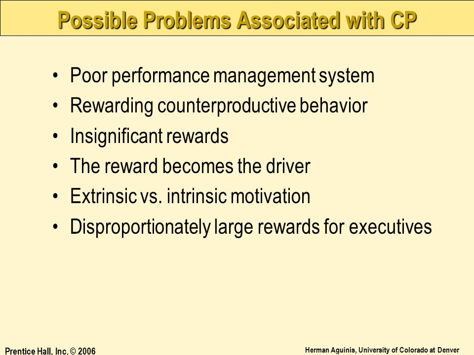 Possible Problems Associated with CP