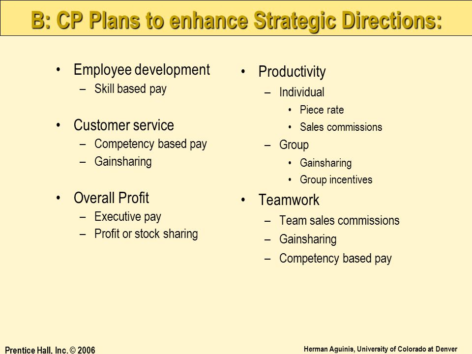 B: CP Plans to enhance Strategic Directions: