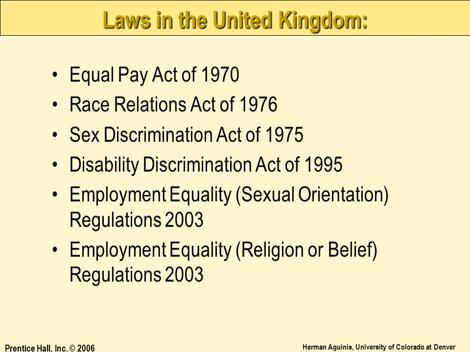 Laws in the United Kingdom: