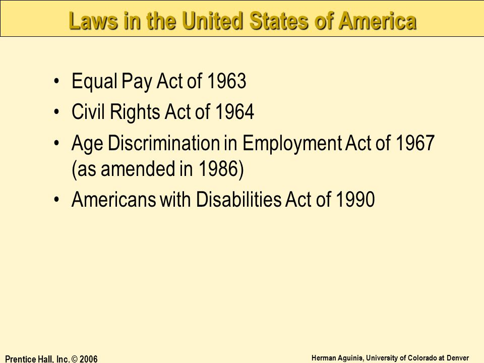 Laws in the United States of America