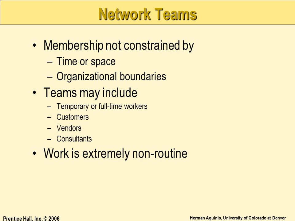 Network Teams Membership not constrained by Teams may include