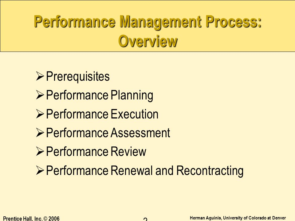 Performance Management Process: Overview