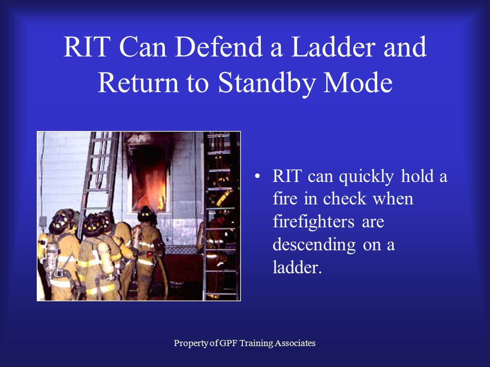 RIT Can Defend a Ladder and Return to Standby Mode