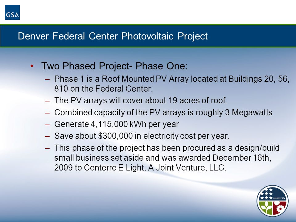 Denver Federal Center Photovoltaic Project