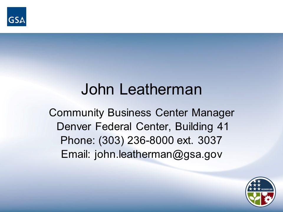 John Leatherman Community Business Center Manager