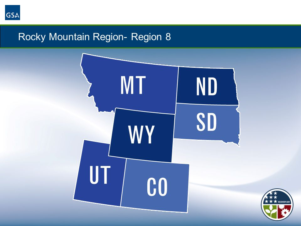 Rocky Mountain Region- Region 8