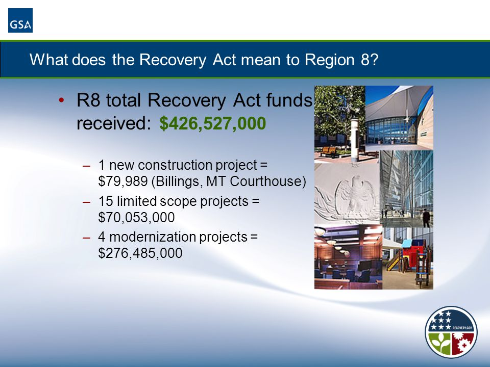What does the Recovery Act mean to Region 8