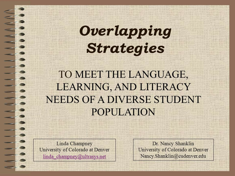 Overlapping Strategies