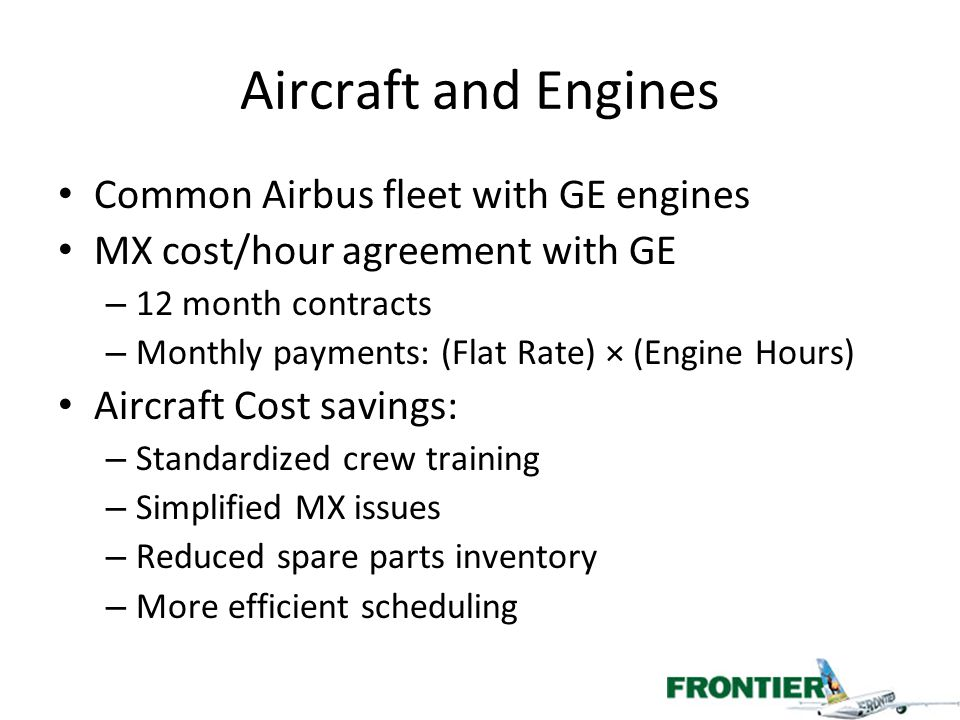 Aircraft and Engines Common Airbus fleet with GE engines