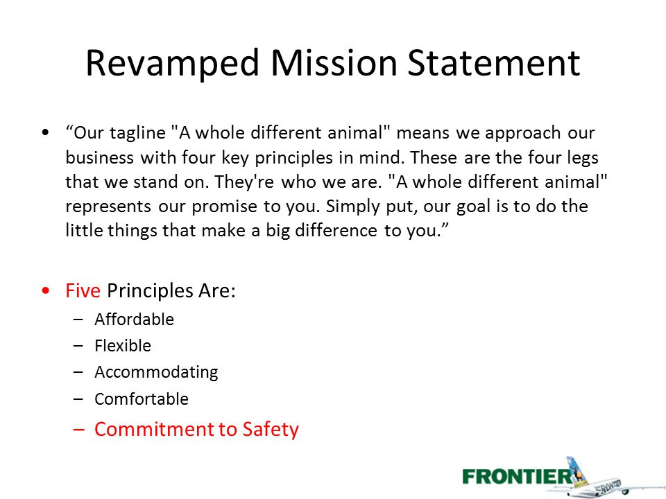 Revamped Mission Statement