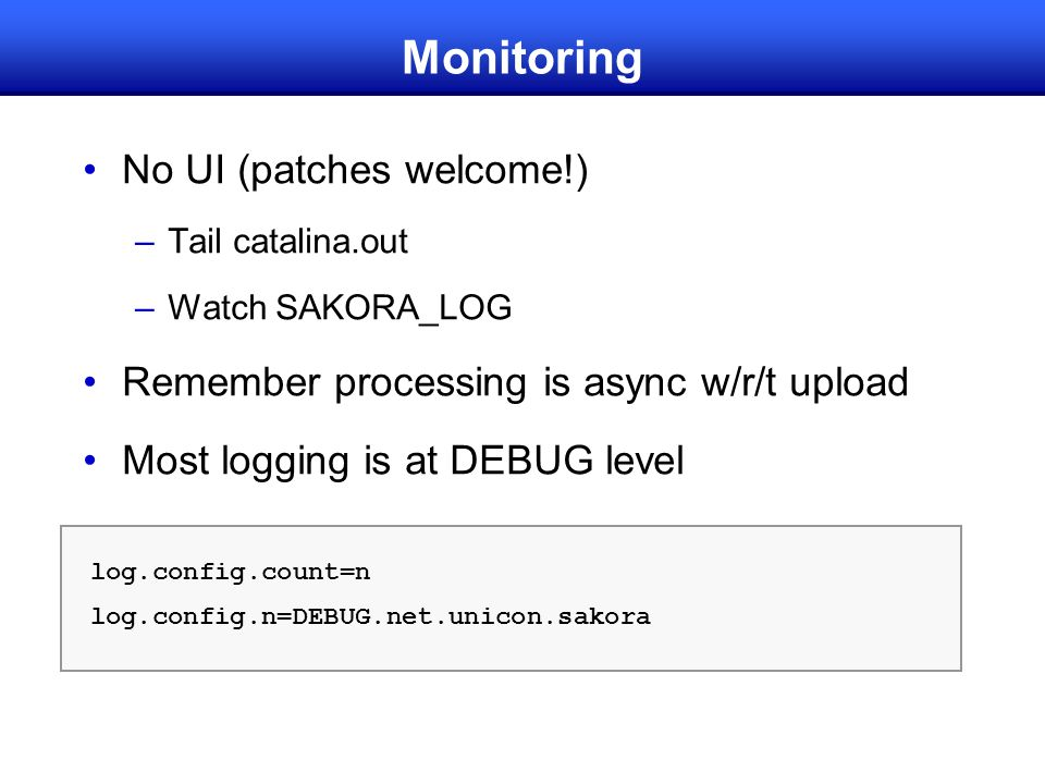 Monitoring No UI (patches welcome!)