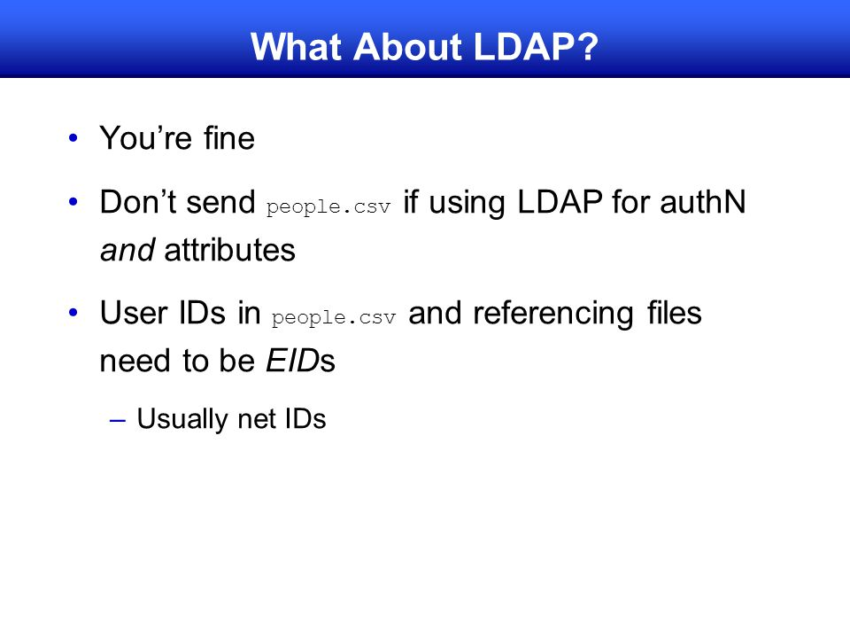 What About LDAP You're fine