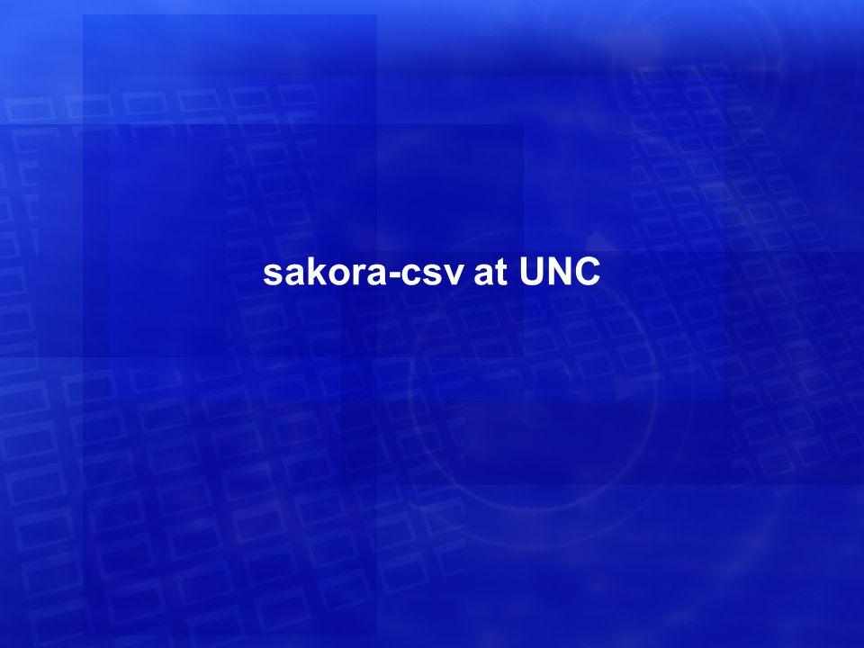 sakora-csv at UNC