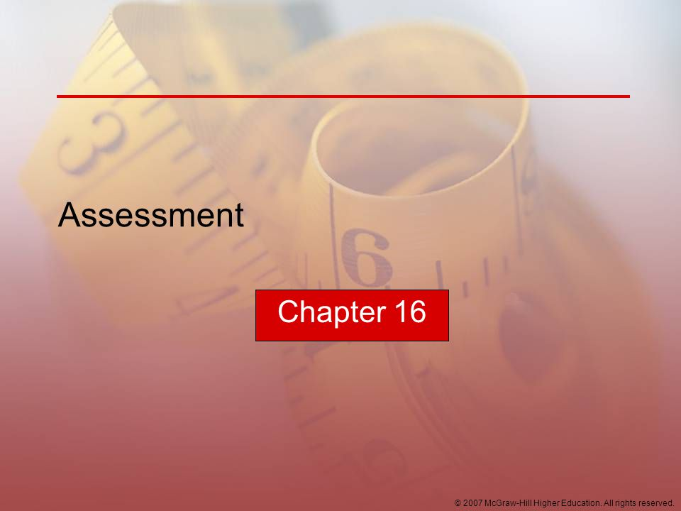Assessment Chapter 16