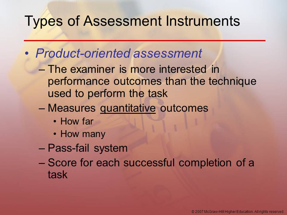 Types of Assessment Instruments