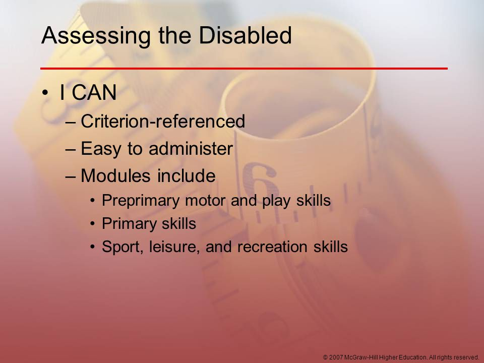 Assessing the Disabled