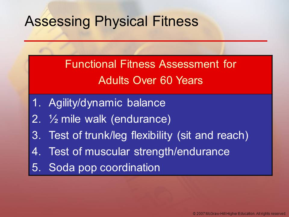 Assessing Physical Fitness