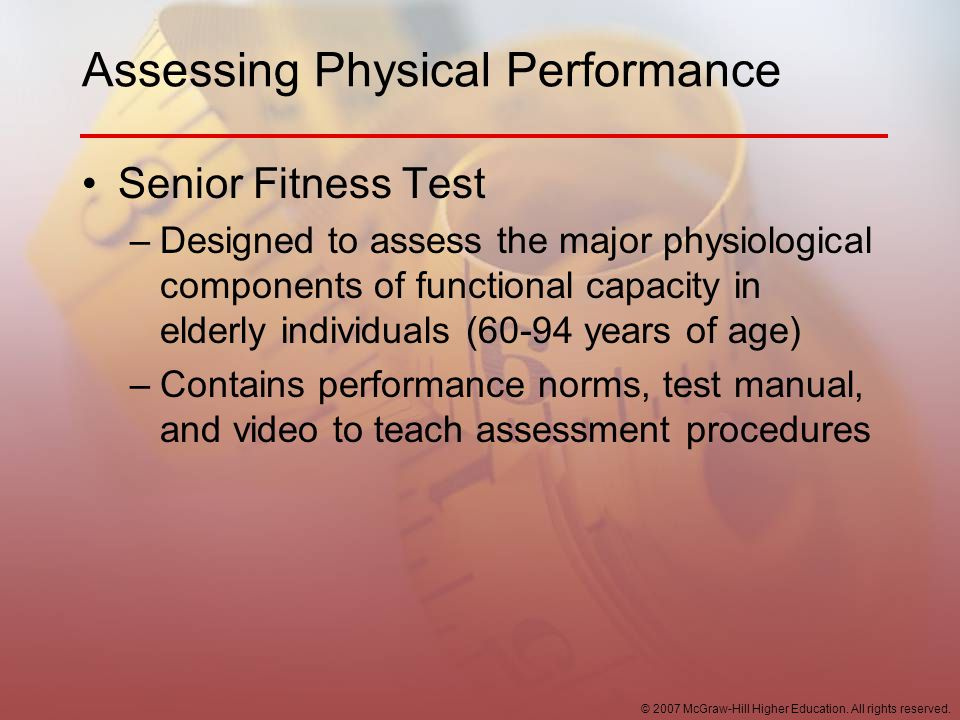 Assessing Physical Performance