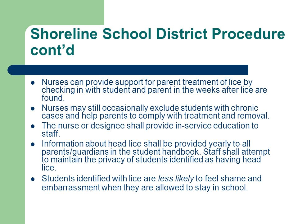 Shoreline School District Procedure cont'd