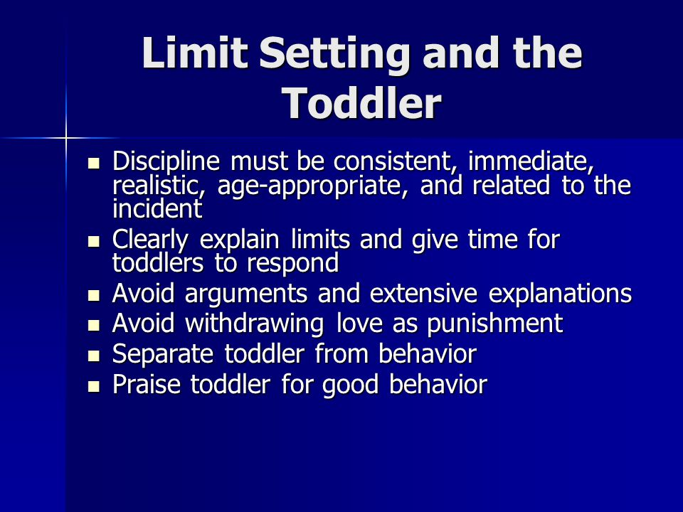 Limit Setting and the Toddler
