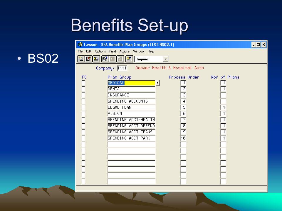 Benefits Set-up BS02