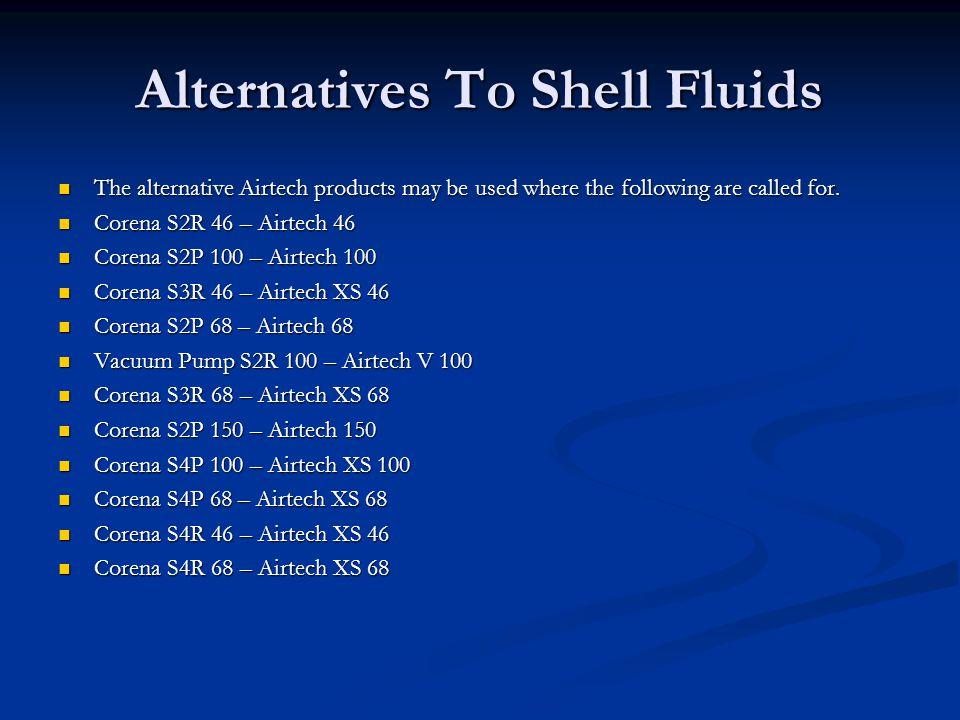 Alternatives To Shell Fluids