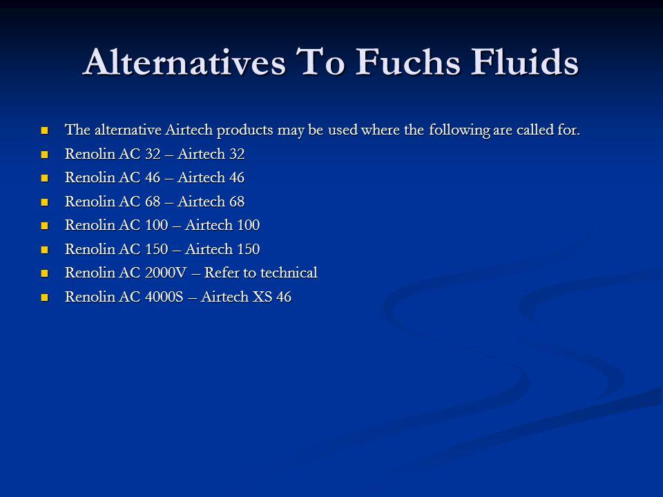 Alternatives To Fuchs Fluids