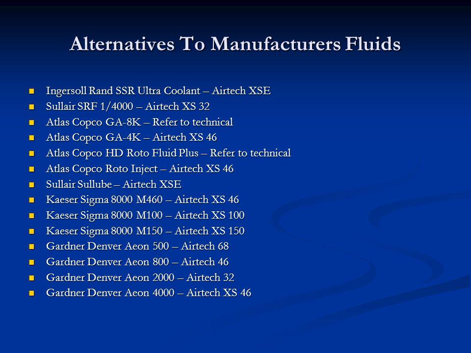 Alternatives To Manufacturers Fluids
